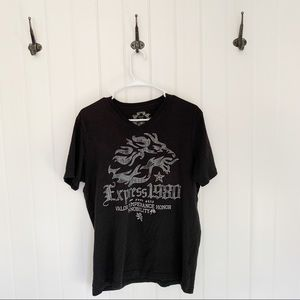 Express Short Sleeve Graphic Tee Shirt Size M